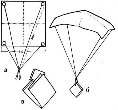 Как из бумаги сделать парашют своими руками из 15